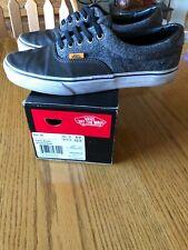 Vans Era 59 L&H Brown Leather Canvas Dark Grey Men's 9 Skate Shoe