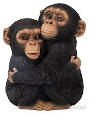 Vivid Arts - REAL LIFE ZOO ANIMALS - Hugging Chimps Chimpanzees