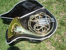VERY  NICE  REYNOLDS  CONTEMPORA FRENCH HORN F USA SINGLE CASE MOUTHPIECE