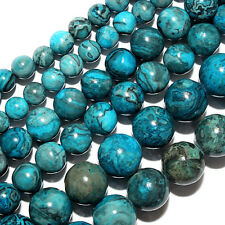 CALSILIA BEAD ROUND 4MM BEADS BLUES BROWNS GREEN MIX COLORS S202