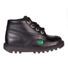 Chaussures noirs unisexe en cuir pour bébé
