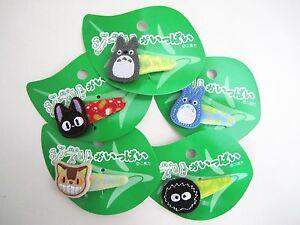 Studio Ghibli Totoro Catbus Soot Ball Cat Jiji Hair Accessory Hairpin Clip Gift
