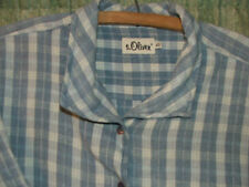 Blue & white checked SHIRT, size 12, by S. Oliver