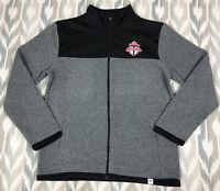 Fanatics Toronto FC MLS Soccer Mens Full Zip Fleece Jacket Gray Size L Large