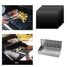 BBQ Smoker Case and 5pcs BBQ Mat BBQ Grilling Food-grade BBQ Accessories