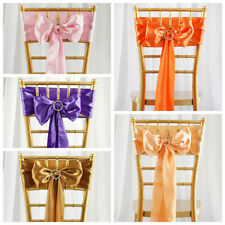 50 pcs New Satin Chair Sash Bows Ties Wedding Decorations - FREE SHIPPING Cheap