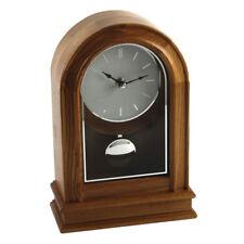 Arch Shape Light Oak Wood Working Pendulum Mantel Clock Batton Dial Mantle Piece