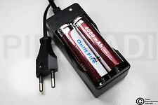 .CHARGEUR RX-77 + 2 PILES ACCU RECHARGEABLE 18650 3.7v 4000mAH BATTERY BATTERIE