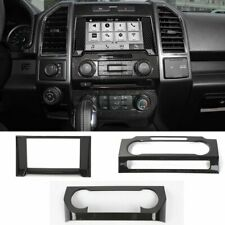 Carbon Fiber ABS Dashboard Navigation AC CD Cover Trim For Ford F150 2015-2018