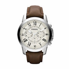 Fossil Grant Chronograph Dial Brown Leather Mens Watch FS4735