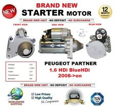 FOR PEUGEOT PARTNER 1.6 HDi BlueHDi 2008-> STARTER MOTOR 1.5kW 11Teeth BRAND NEW