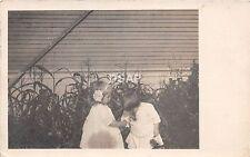 Missouri Mo Real Photo RPPC Postcard 1911 ST LOUIS Children Smelling Flowers