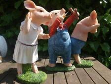 Schwein Ferkel Deko Figur Kinder Junge Mädchen Gartenfigur wetterfest Fletsche S