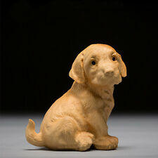 Boxwood Carving Exquisite Constellation Dog Animal Carving Handicraft Wealth
