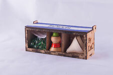 Kit 3 in 1 Mini Box Content 1 Trompo/ 1 Capirucho/ 25 chibolas From El Salvador