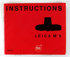 Original Leica M5 Instruction Book - 36 pages, printed in September 1971