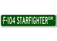 F-104 F104 Starfighter Airforce Pilot Metal Wall Decor Street Sign - Aluminum