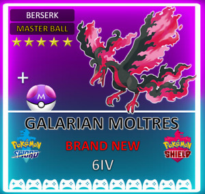 Pokemon Sword & Shield ! 6IV GALARIAN MOLTRES! BRAND NEW! CROWN TUNDRA DLC