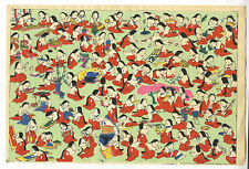 Patrón de diseño moderno, impresión xilografía japonesa, ukiyo-e