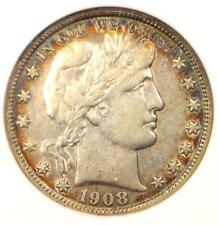 1908-D Barber Half Dollar 50C - ANACS XF45 - Rare Date - Certified Coin!