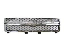 For 2011-2014 CHEVY SILVERADO 2500HD 3500HD GRILLE DARK GRAY WITH CHROME FRAME