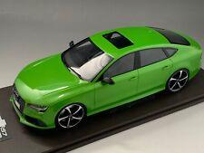 1/18 MotorHelix Audi RS7  in Apple Green Metallic