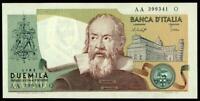 ITALY  2000 LIRE GALILEO GALILEI 22.10. 1976, P 103b, FDS / UNC SCARCE BANKNOTE