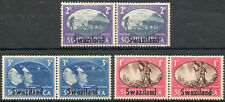 Swaziland 1945 KGVI Victory set of 3 pairs mint stamps VLMM