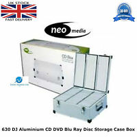 1 x Neo Media 630 Capacity DJ Aluminum SILVER CD DVD Carry Case Box Partitioned
