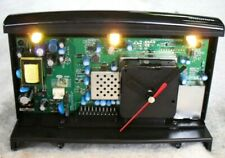 Digital Art - Circuit Board Digital Battery Light Clock - Grundig FreeSat Box.