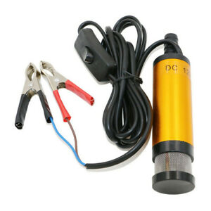 DC 12V Electric Submersible Pump Stainless Steel Pump For Water Oil 38mm