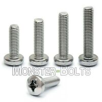 M6 Stainless Steel Phillips Pan Head Machine Screws, Cross Recessed DIN 7985A