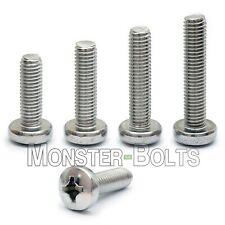 M6 Stainless Steel Phillips Pan Head Machine Screws, Cross Recessed DIN 7985A