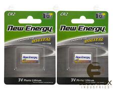 2 x CR2 Universal 3V Lithium New Energy Battery for Digital Camera