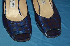 VINTAGE Escarpins  LINEA WALLYS (Venezia)   cuir verni  Bleu Vif T 40 BE