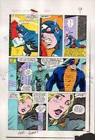 1983 Zeck Captain America 282 page 9 original Marvel Comics color guide artwork