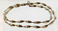 Vintage Italy Sterling Silver Twisted Chain Necklace 14 Inch Length 925 Choker