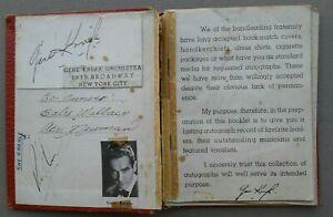 1942 BOOKLET AUTOGRAPHS...JAZZ BIG BAND,GENE KRUPA,BENNY GOODMAN + TOTAL OF 35