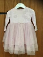 Next Baby Lovely Girls Pink Dress Age 3-6 Months 100% Cotton