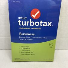 Intuit TurboTax Business 2019 for Corps, LLC's, Trusts ~ Windows, New Sealed