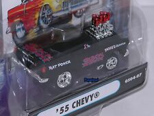 Muscle Machines 1955 Chevrolet Rat Gasser 55 Chevy Black Widow GS04-07 1:64 **