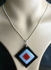 new 3D square colors blown lampwork murano glass pendants jewelry  for Necklace