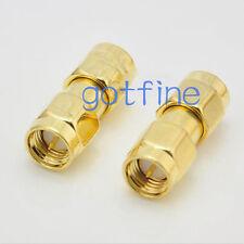 10pcs SMA male plug to SMA male plug RF connector adapter