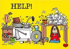 POSTCARD   COMIC  HELP  !  Girl  Untidy  Room   (L/S)