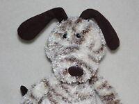 JELLYCAT STRIPE DOG SOFT TOY CREAM WHITE BROWN PUPPY COMFORTER DOUDOU J673