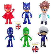 6pcs PJ Masks Catboy Owlette Gekko Cloak Action Figures Kids Toy Set PVC 8-9cm R