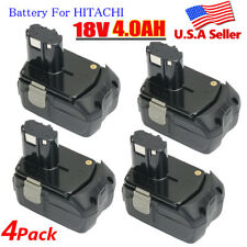 4X Battery for HITACHI EBM1830 BCL1815 WR18DL 4.0Ah 18VOLT Li-ion WH18DL UB18DL