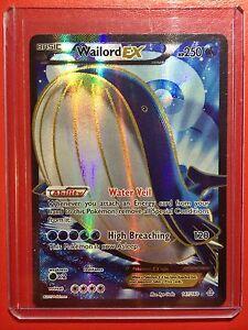 Pokemon card - Full Art Wailord EX - Ed 1st Primal Clash Edition 147/160 XY BW