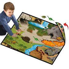 Dinosaur Prehistoric Playmat 2Sided World 2 Dinos Play Playset Kids Toy Mat New