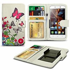 For Karbonn Titanium S5 Plus - Clip Printed Series PU Leather Wallet Case